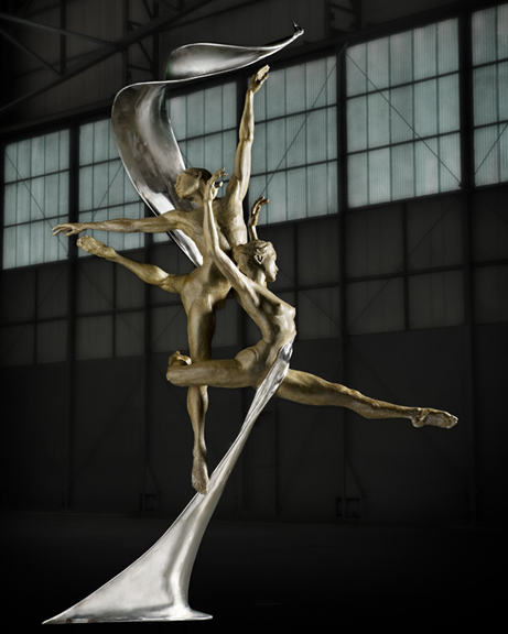 Michael Walters in Ballet International, Bronze by Paige Bradley