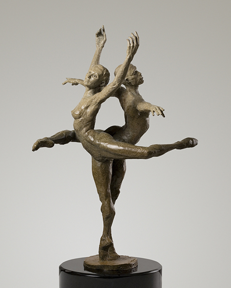 Michael Walters in Harmony, bronze by Paige Bradley.