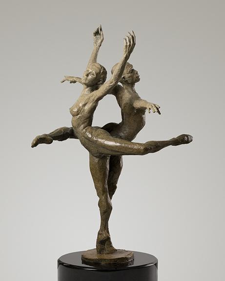 Michael Walters in Harmony, bronze by Paige Bradley.