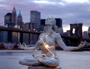 Expansion, Bronze and Electricity by Paige Bradley.