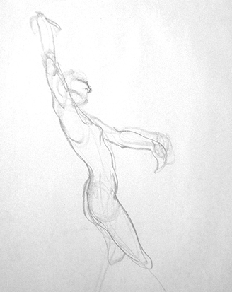 Simple Grace No. 2 , Graphite on Paper
