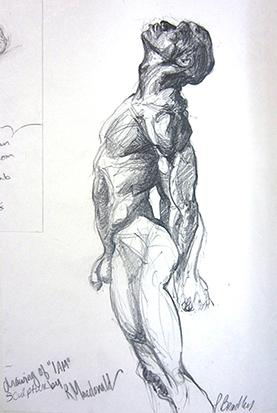 Drawing from a<br />MacDonald Sculpture , Graphite on Paper