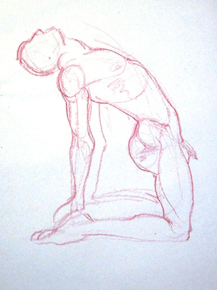 Male Arching No. 1 , Graphite on Paper