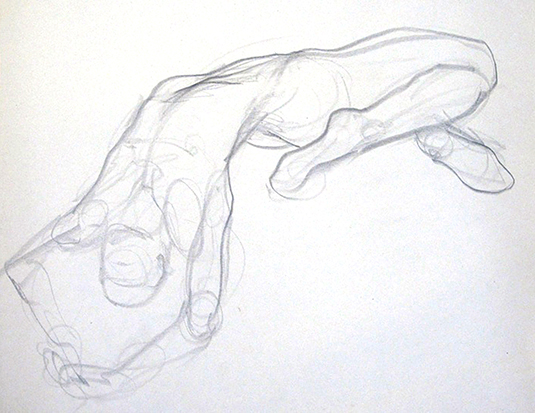 Male Arching No. 2 , Graphite on Paper