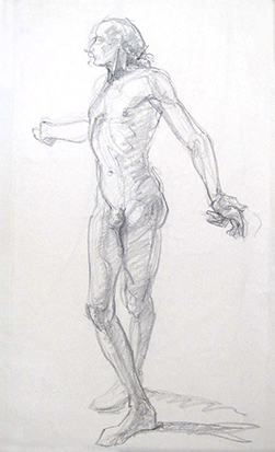 Male Contraposto , Graphite on Paper