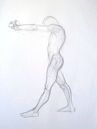 Power Pose No. 1 , Graphite on Paper