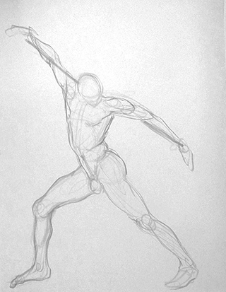 Power Pose No. 2 , Graphite on Paper