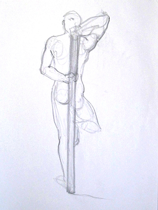 Stickman No. 2 , Graphite on Paper